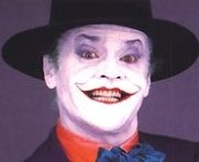 Jack Nicholson no seu papel do Joker