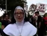 Algúns dos manifestantes